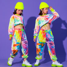 Hip Hop Clothing Multicolor Sweatshirt Causal Pants For Girls Jazz Ballroom Dancing Clothes Stage Outfits Rave Clothes
