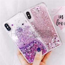 Bling Sequins Glitter Phone Case For iPhone 7 8 Plus XS MAX XR Fashion Liquid Quicksand Cases  X 6 6s SE Cover
