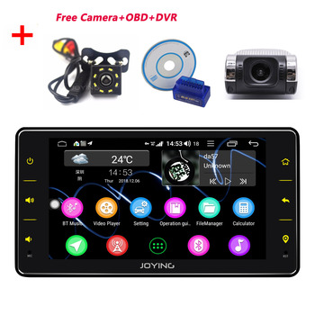 JOYING single din 6.2 inch Android 8.1 Octa Core car radio player 4GB+64GB support 4G DSP GPS with free Rear View Camera&OBD&DVR