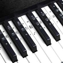 1pcs 32/37/54/61/88 Key Piano Stickers Transparent Piano Keyboard PVC Sticker Piano Stave Electronic Keyboard Name Note Sticker(China)