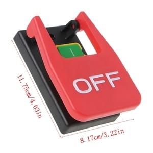 Image 2 - Interruptor de botão de pressão eletromagnético paddle switchvoltage proteção serras de mesa atacado dropshipping