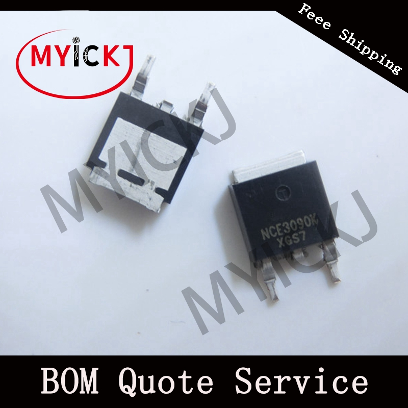 10PCS NCE3090K TO-252 NCE P-Channel Enhancement Mode Power MOSFET IC CHIP