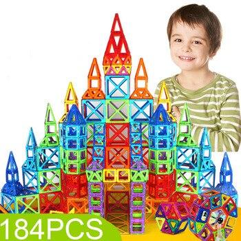 Plastic Magnetic Blocks 110pcs-184pcs Model Building Toy Mini Magnetic Designer Construction Set Educational Toys For Kids Gift 110pcs magnetic building blocks model