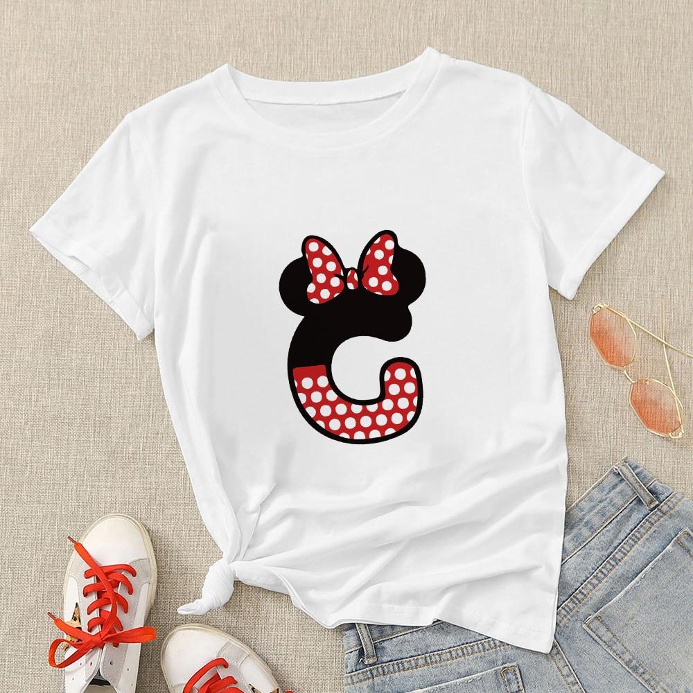 Disney Aesthetic Women Modern T Shirt Creative Oversize T-shirt Streetwear Mickey Letter H Graphic Short Sleeve Casual Tshirt 2