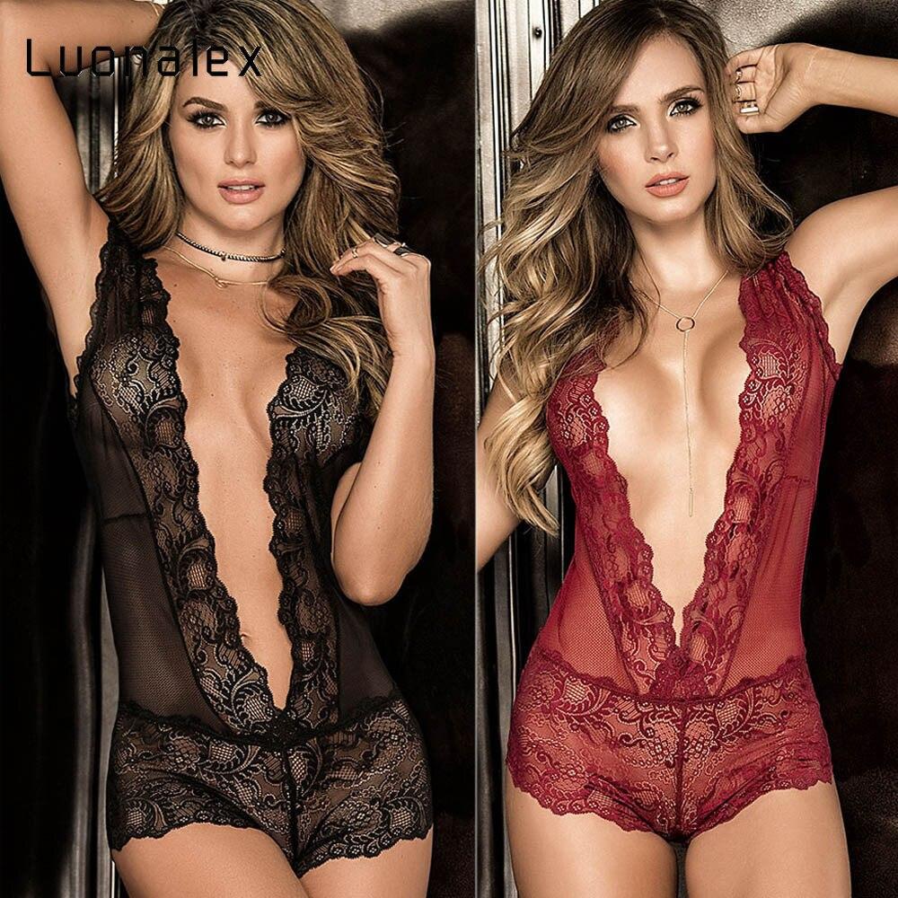 Luonalex Women Lingerie Sexy Nightwear Seductive Attractive Lace Pierced Hollow Underwear Women Sex Lingerie Fancy Clothing Sexy