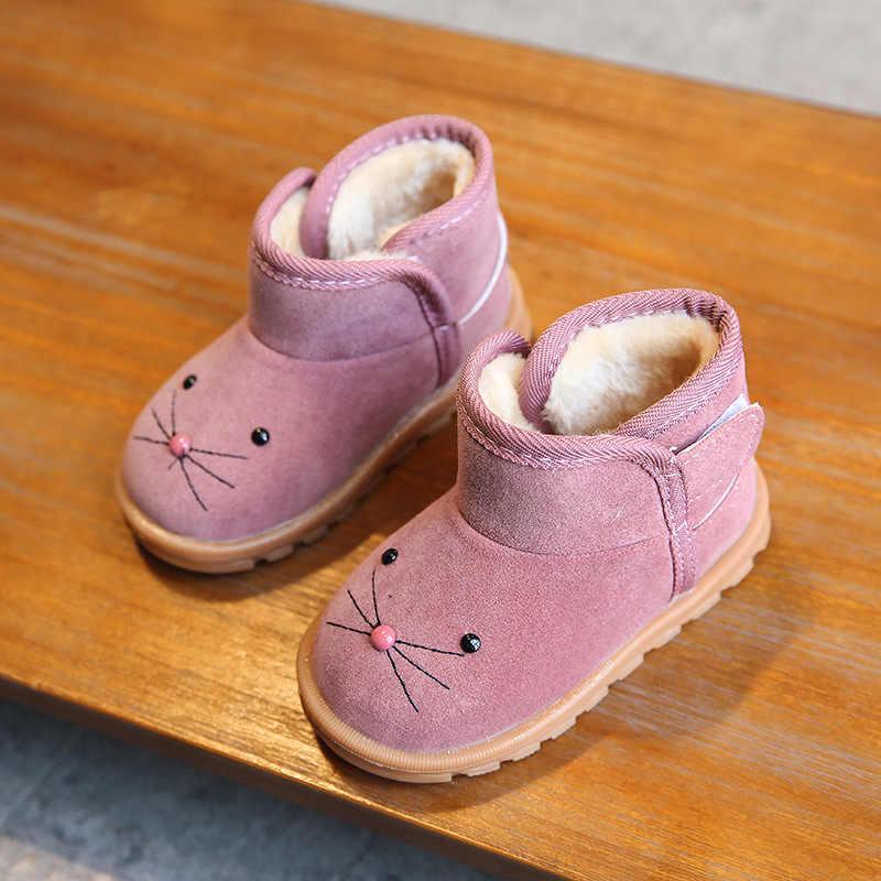 Модные детские зимние ботинки; Кожаные Ботинки martin для маленьких мальчиков и девочек; Детские очень теплые ботинки с плюшевой подкладкой; детские зимние ботинки