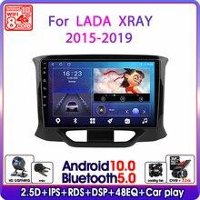 אנדרואיד 10 רכב רדיו עבור לאדה X Ray Xray 2015 2016 2019 מולטימדיה נגן וידאו 2 דין 4G wiFi ניווט GPS autoradio ראש יחידה