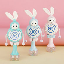 Sonajeros para bebés, juguetes de desarrollo para edades tempranas de 0 a 12 meses, conejo Musical parpadeante, campanas de mano, juguetes móviles educativos para niños