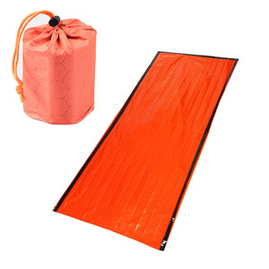 New Emergency Sleeping Bag Emergency First Aid Sleeping Bag PE Aluminum Film Tent For Outdoor Camping and Hiking Sun Protection(China)