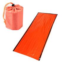 Nowy śpiwór awaryjny awaryjny śpiwór pierwszej pomocy PE folia aluminiowa namiot na zewnątrz Camping i piesze wycieczki ochrona przed słońcem tanie tanio Aolikes [0℃ ~-10℃] Łączenie singiel śpiwór Dla dorosłych Wydłużony (1 8 m-2 m wysokości) Wiosna i jesień 78 74in*35 43in