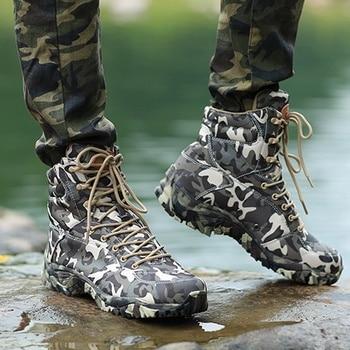 Μπότες παραλλαγής στρατιωτικού τύπου για κυνήγι ορειβασία αναρρίχηση αδιάβροχες