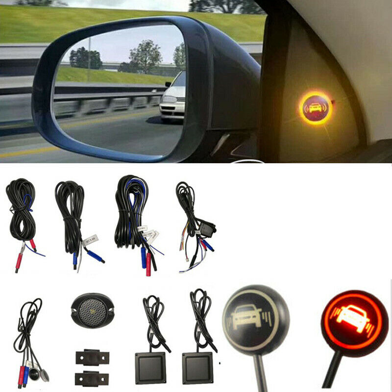 LED Car Blind Spot Area Monitoring Detection System BSD BSA BSM Ultrasonic Sensor Distance Assist Car Driving Security