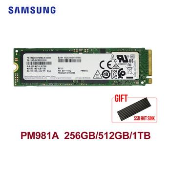 SAMSUNG PM981A M.2 SSD 512GB 1TB Internal Solid State Drives  M2 NVMe PCIe 3.0x4  Laptop Desktop SSD With HeatSink