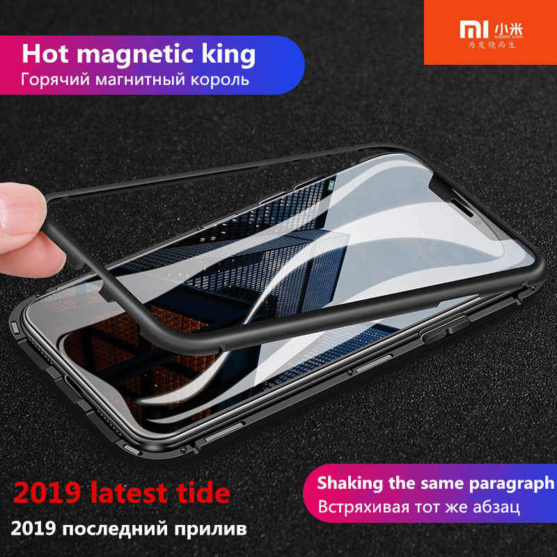 Original for xiaomi cc9 case Magnetic Adsorption Metal Case for xiaomi 8 9 8/9 se f1 8lite 9t 9t pro a3 a3 lite redmi note 8 7 6