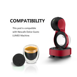 For Nescafe Dolce Gusto Lumio Machine Refillable Coffee Capsule Pods Dripper Stainless Steel Reusable Coffee Filters