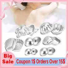 Bathing-Cake-Mould-Tools Aluminium-Alloy Crafting Bath-Accessories Fizzy DIY 3D 7-Types