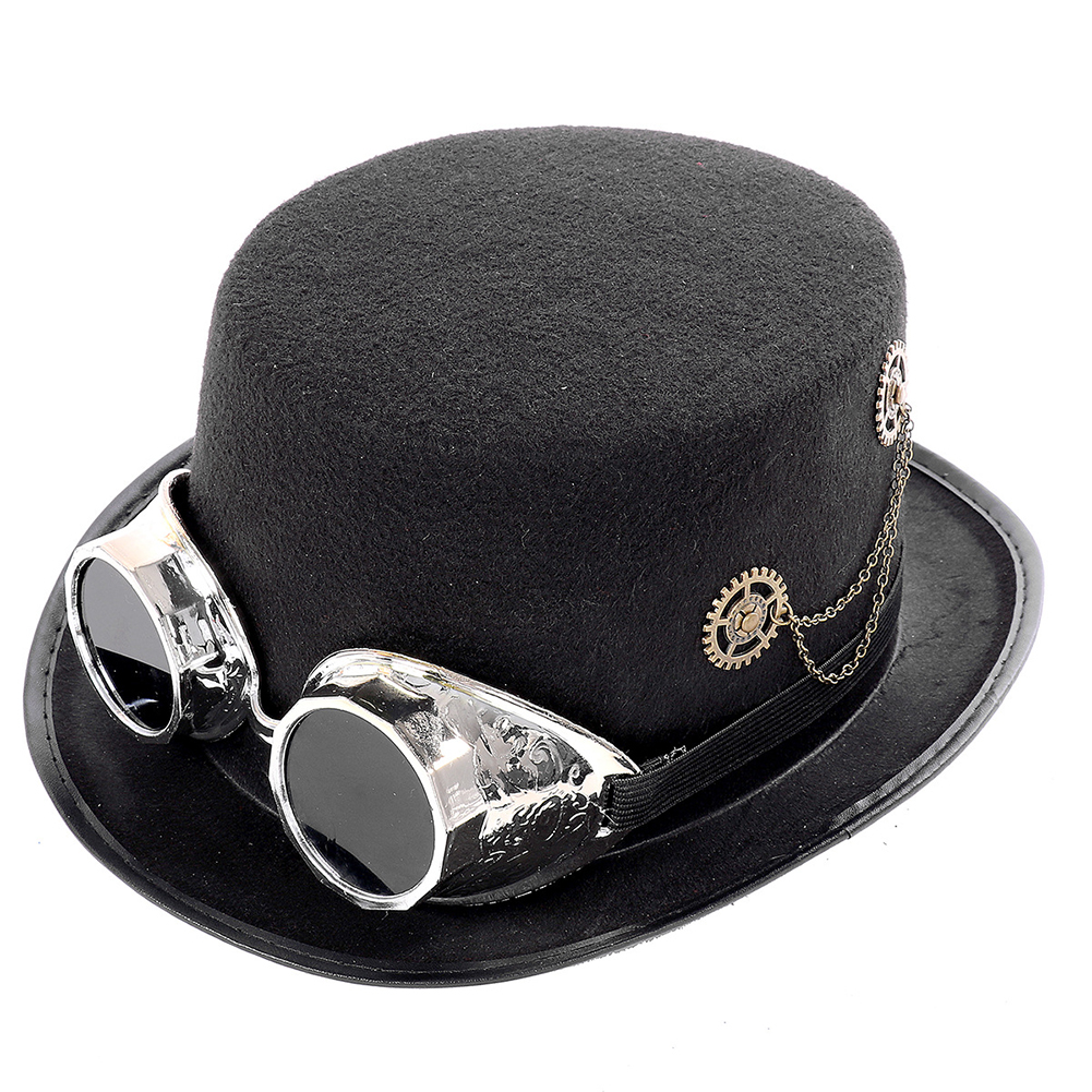 Rivet Retro Props Crow Steampunk With Goggles Fedora Comfortable Music Festival Halloween Party Lolita Cosplay Top Hat