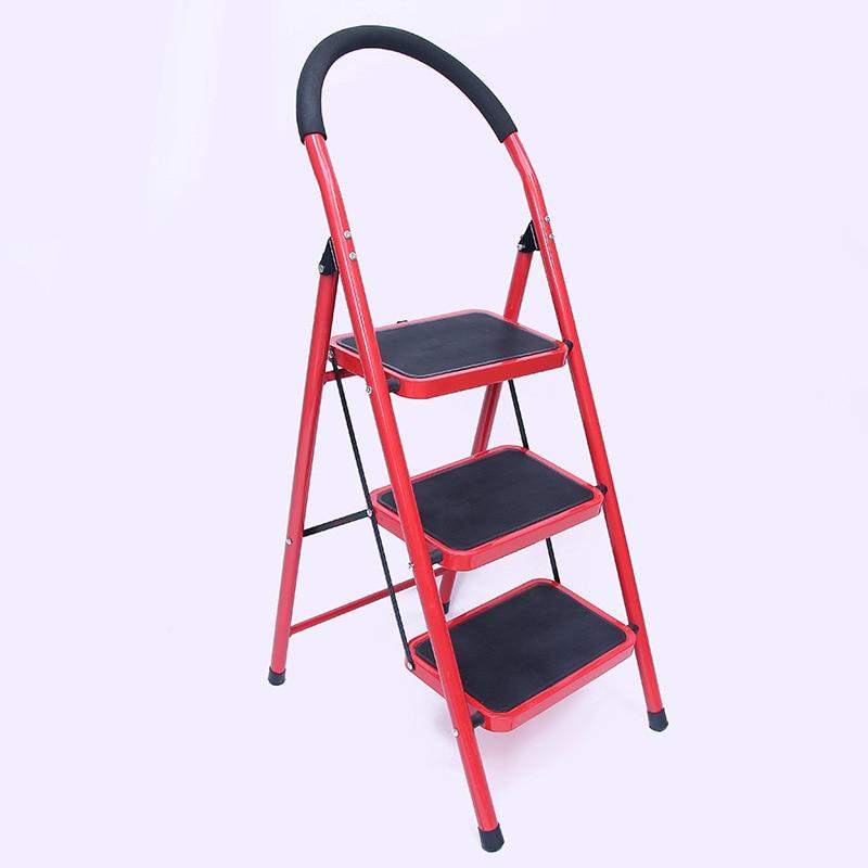 Single-Sided Pedal Thick Non-Slip Household Ladder Multi-functional Folding Escalators Unilateral Trestle Ladder Wholesale