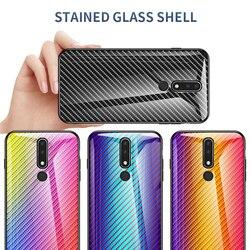 На Алиэкспресс купить стекло для смартфона carbon fiber tempered glass phone case for nokia x6 7 8 7.1 3.1 x7 9 4.2 1 x71 plus protective back cover case coque