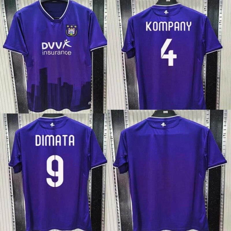 Nova chegada anderlecht 20 21 homem azul camiseta camiseta kompany camisas casa personalizar número nome 20 2021