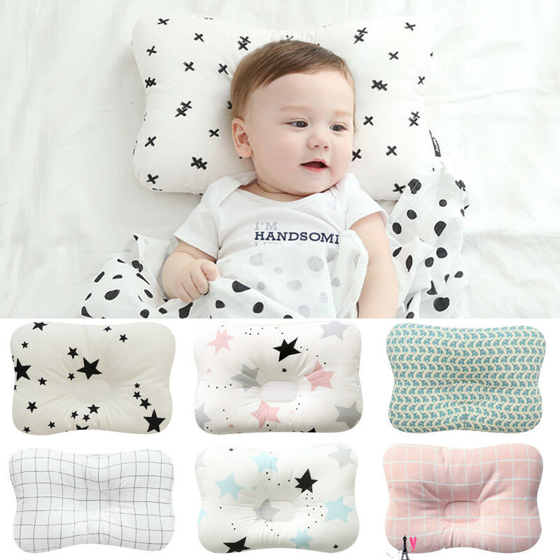 Baby Pillow Kids Shaping Pillow Flat Head Sleeping Support  Head Anti Roll Cushion Prevent Soft  Infant Newborn Baby
