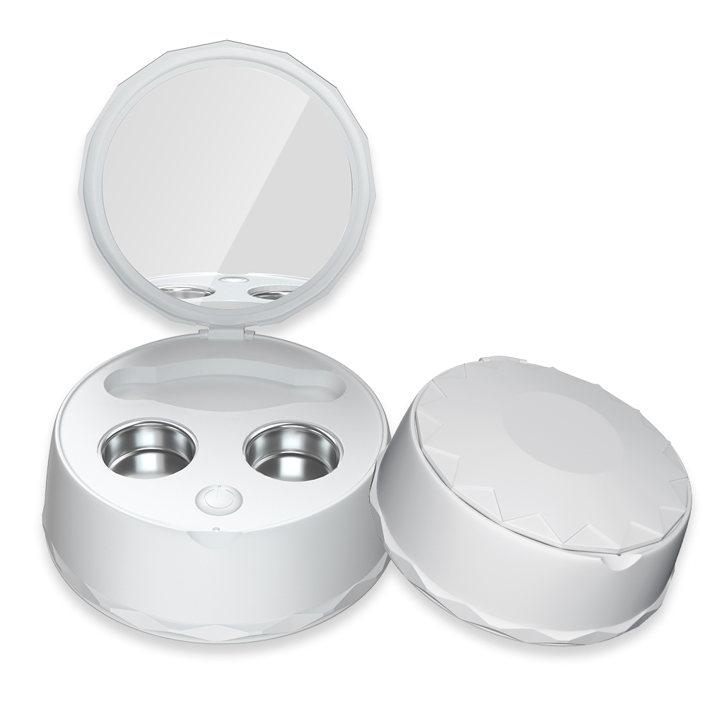 Portable Ultrasonic Contact Lens Cleaner Auto Case Daily Care Lenses Solution image