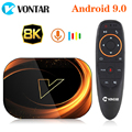 2020 VONTAR X3 4 Гб 128 Гб 8 к ТВ приставка Amlogic S905X3 Смарт ТВ приставка Android 9 0 Wifi 1080P 4K Android ТВ приставка 4 Гб 64 ГБ 32 ГБ