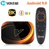 2020 VONTAR X3 4GB 128GB 8K TVBOX procesor Amlogic S905X3 Smart TV BOX z systemem Android 9.0 Wifi 1080P 4K Android zestaw pudełkek pod telewizor 4GB 64GB 32GB
