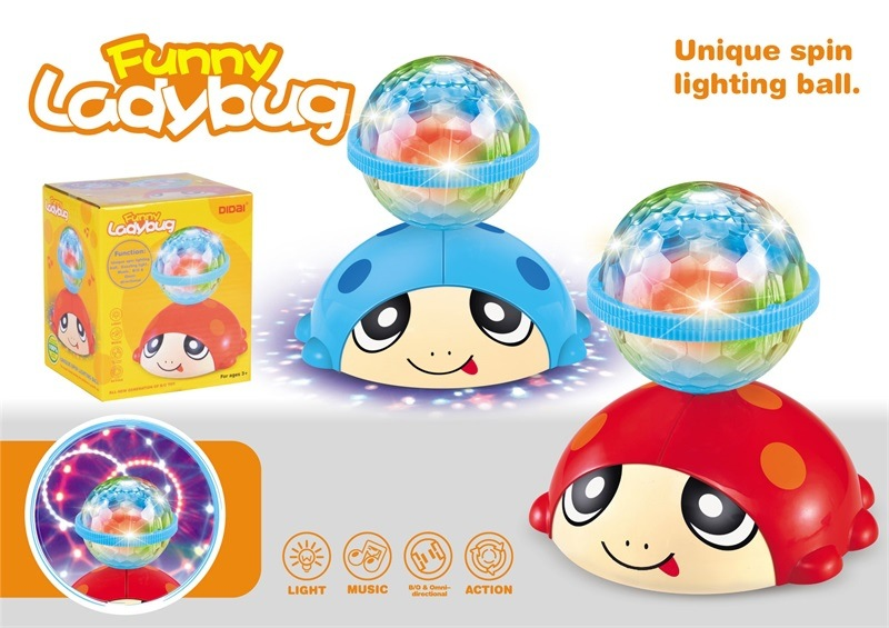 Children Night Market Stall Hot Selling Toy Dreamy Rotating Ball Light And Sound Model Electric Universal Beetle Toy