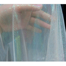 Mesh Fabric Apparel-Cloth Tulle Diy Sewing Home-Decor Fluorescent Shiny Net Voile Party
