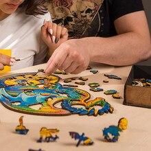 VIP 2021 Neue Holz Puzzle für Erwachsene Kinder Holz DIY Handwerk Tier Geformt Weihnachts Geschenk holz jigsaw puzzle Hölle Schwierigkeit