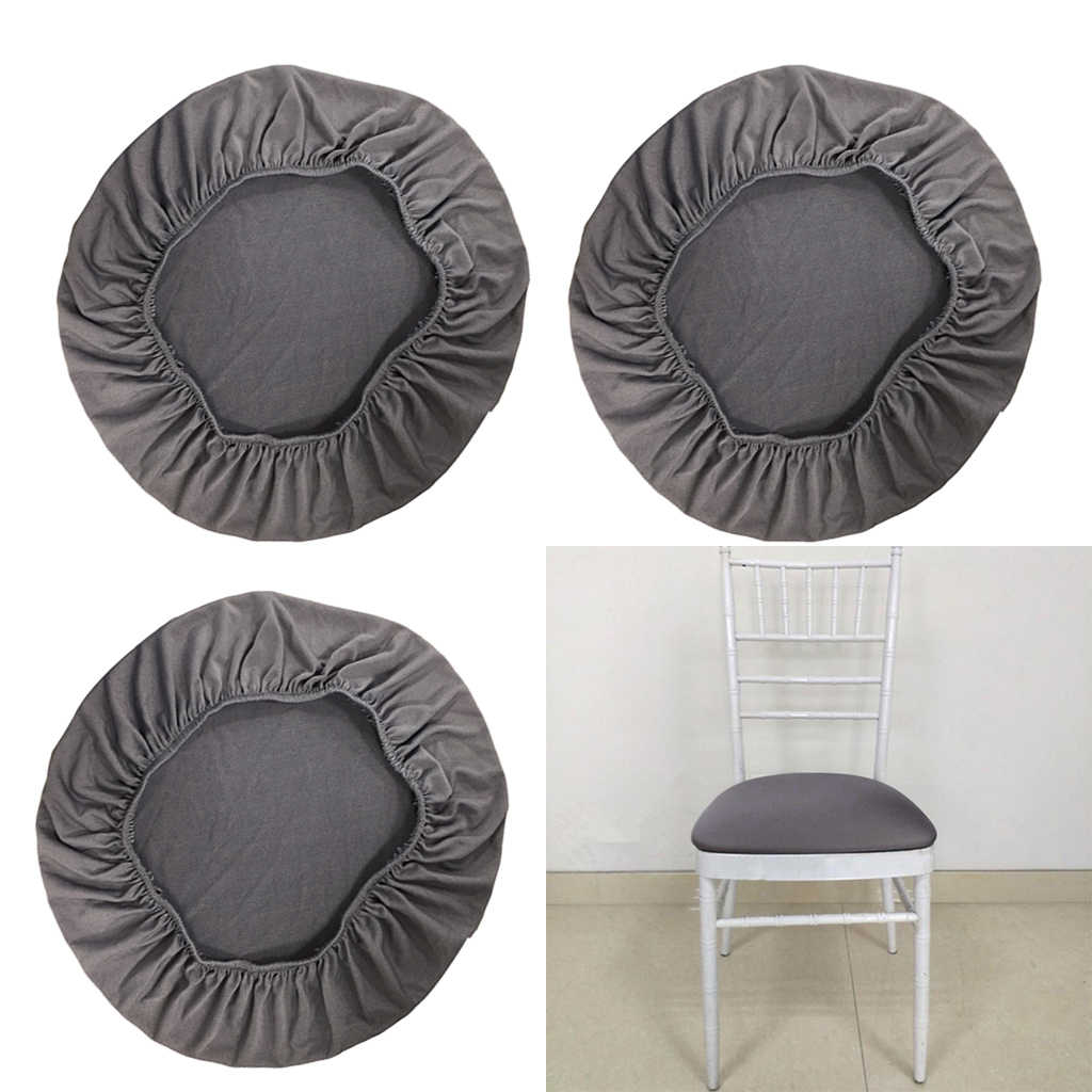 Soft Stool Covers Comfty Round Seat Cover Chair Washable Breathable Protector
