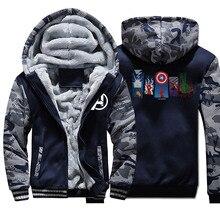 Avengers End Game Coat Winter Men Thick Warm Fleec