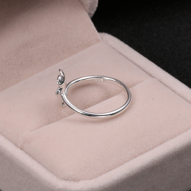 Silver 925 Jewelry Purple Zircon Cherry Ring Simple Fashion Silver Ring For Women Engagement Wedding Elegant Accessories 1