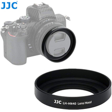 JJC Metal Screw in Lens Hood for Nikon Z50 Camera + Nikkor Z DX 16 50 F/3.5 6.3 VR Lens Replace Nikon HN 40 Lens Shade Protector