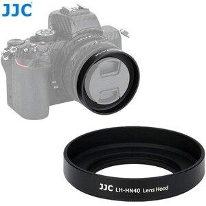 Image 1 - JJC Metal Screw in Lens Hood for Nikon Z50 Camera + Nikkor Z DX 16 50 F/3.5 6.3 VR Lens Replace Nikon HN 40 Lens Shade Protector