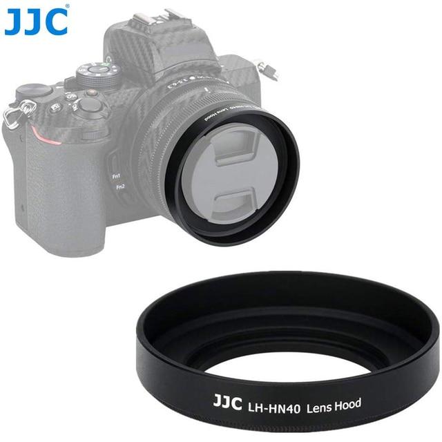 JJC Metal Screw in Lens Hood for Nikon Z50 Camera + Nikkor Z DX 16 50 F/3.5 6.3 VR Lens Replace Nikon HN 40 Lens Shade Protector