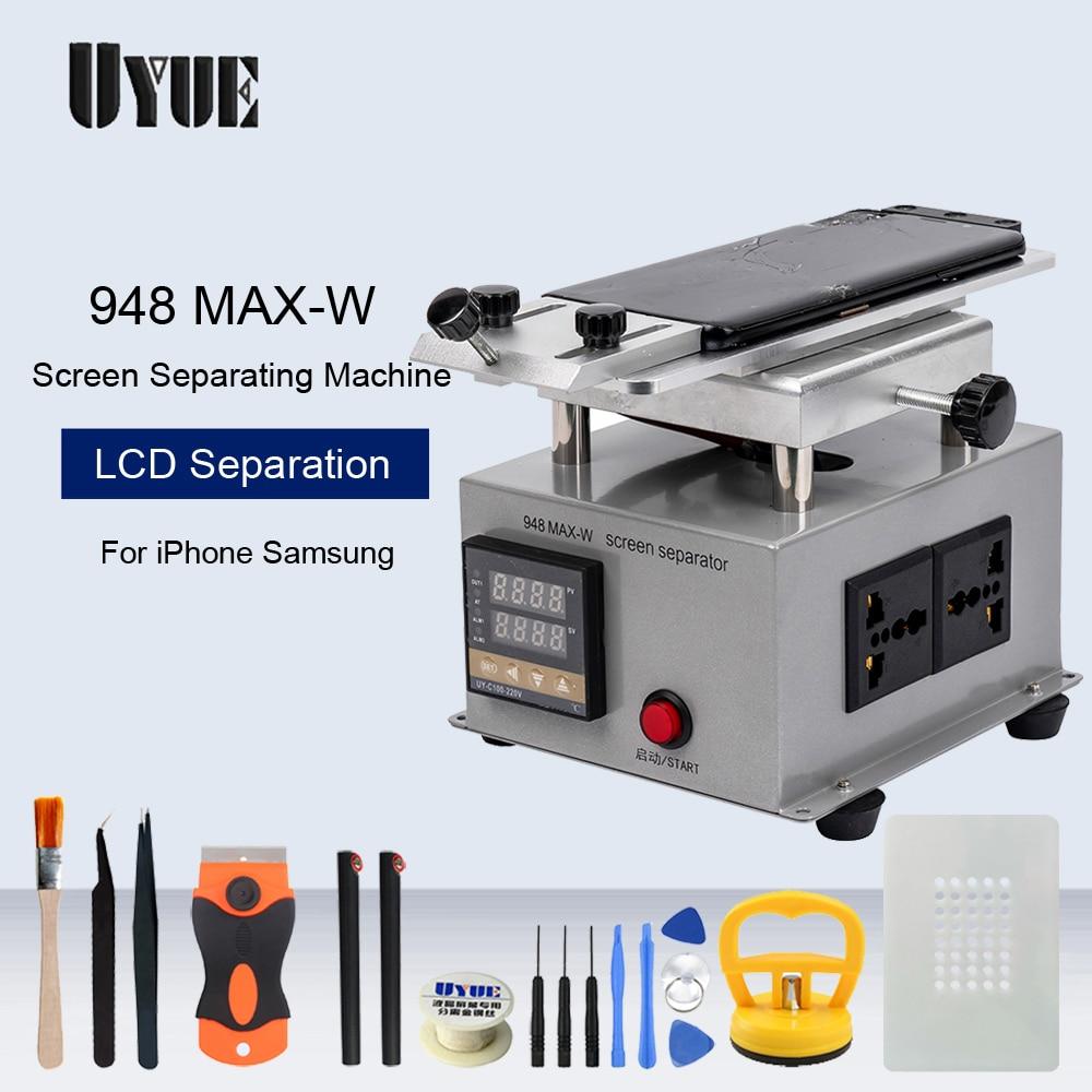 UYUE Screen Heat Separator Machine For IPhone Samsung LCD Glass Touch Screen Frame Bezel Dismantle Machine Need External Pump