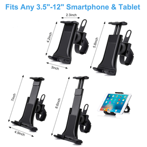 Image 4 - Bike Bicycle Phone Holder Handlebar Tablet Stand Mount for iPad iPhone Samsung Tablet Phone Holder Cradle for Gym Tread Mill