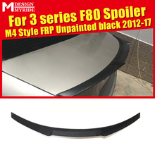F80 M3 Spoiler Wing High Kick M4 Style FRP Unpainted For BMW 4-Series 420i 425i 430i 4-Door Hard Top Trunk 2012-17