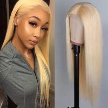 Blonde Lace Front Wig Brazilian Straight 13x6 Human Hair