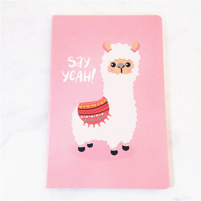 A5 Notebook Agenda 2020 Kawaii Bullet Journal Soft Cover Diary Planner Alpaca Cute Office Stationery Animal Notepad Ruled Paper 5