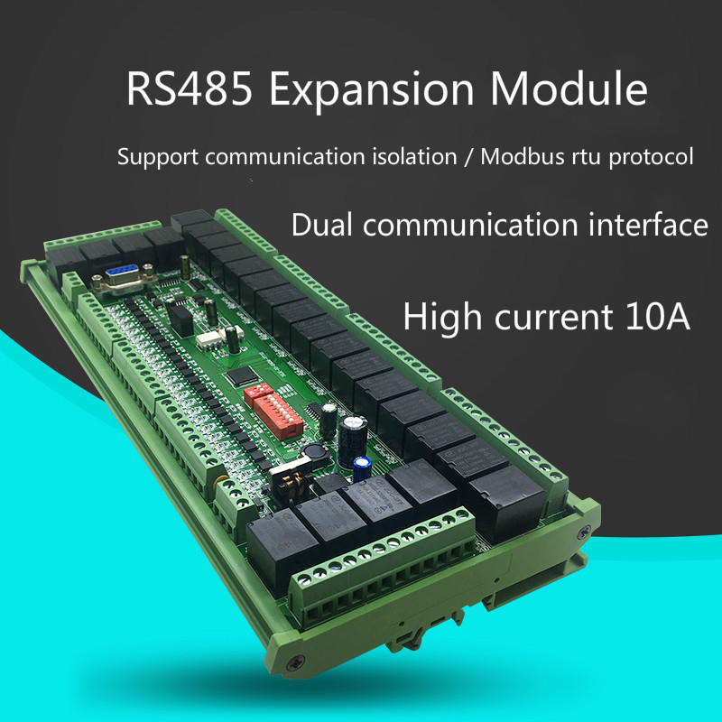 1-32 PLC Input And Output Expansion RS485 Relay Serial Relay Modbus RTU Expansion DC12V