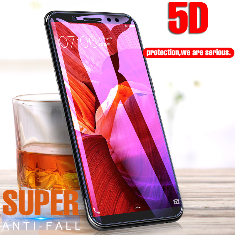 5D Full Cover Tempered Glass For Xiaomi Mi A2 Lite Mi5X Mi6X Screen Glass For Xiaomi Mi 8 A1 A2 Mix 2 5D Glass On Redmi 6A 6 Pro