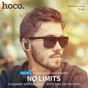 Image 2 - HOCO auriculares inalámbricos con Bluetooth para coche, dispositivo portátil con micrófono, manos libres, para iOS y Android