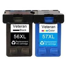 Чернильный картридж Veteran 56 57 xl для hp 56 C6656a, для hp Deskjet F4180 5150 450CI 5550 5650 9650 PSC 1315 2110 2210