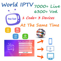 World IPTV Subscription iptv android tv box iptv server arabic Arabic French Spain France Portugal USA UK for M3U ma9 250 TV VIP