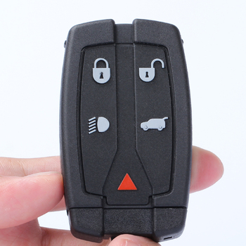 Five-button Black Car Key Smart Card Remote Control Key Replacement Shell Suit For Land Rover Land  Freelander 2 Key Accessories whatskey 2 button remote car key shell case fit for land rover discovery 1 freelander c50 auto durable fob replacement key shell