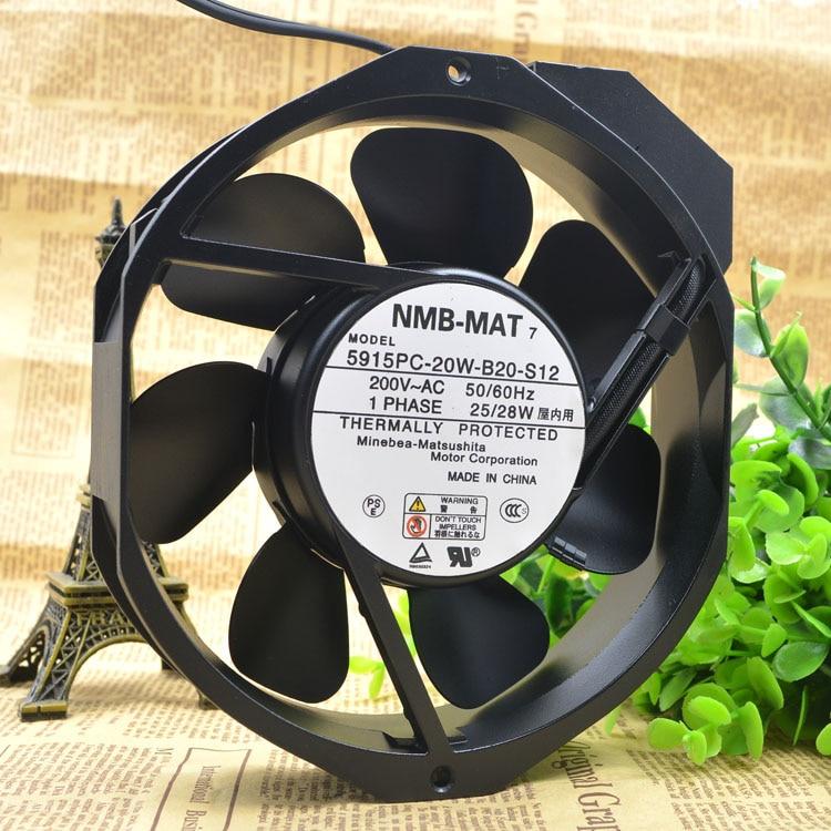 NMB 5915PC-20W-B20-S11/S05 /S12  17238 200V Full Metal Shell Wind Blade High Temperature Resistant Fan