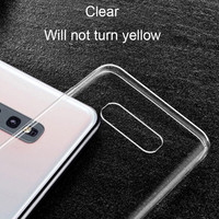 Clear soft silicone case for samsu